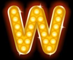 Light Bulb Letters W
