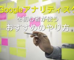 Googleアナリティスクの使い方-初心者版